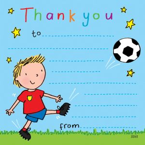 Footballer Thank You Note